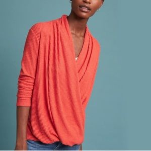 ANTHRO Akemi Kin Woodruff Faux Wrap top